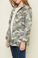 camo cargo jacket cotton