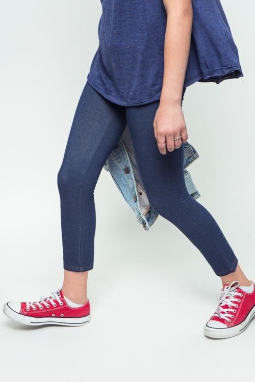 denim jeggings with pocket detail