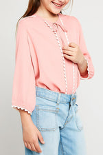 necktie tunic in pink