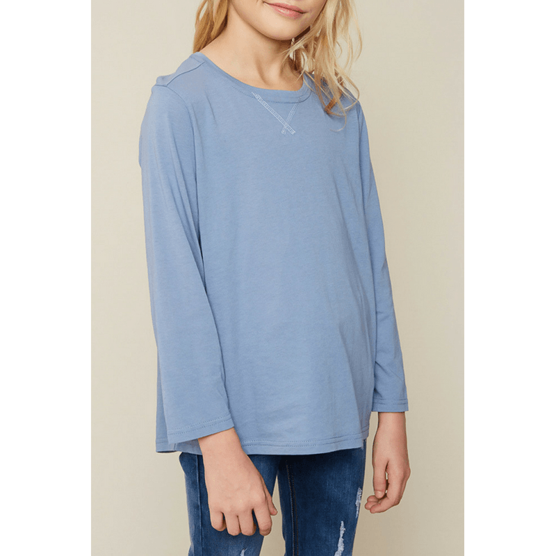 long sleeve oversized top for tween girls