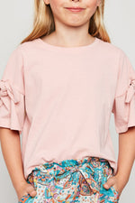 bow sleeve top for tween girls