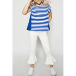 stripe cotton-back tee