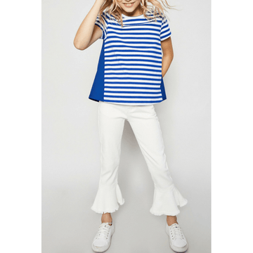 stripe cotton-back tee for tween girls
