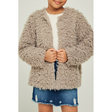 lightweight faux fur jacket