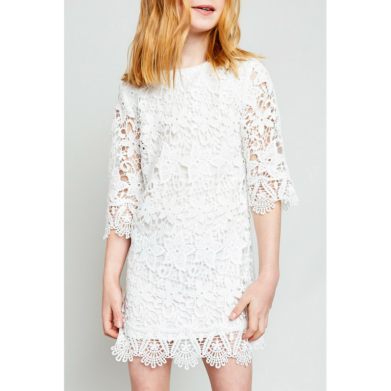 lace shift dress for tween girls