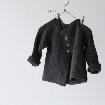 guno french cardigan in charcoal