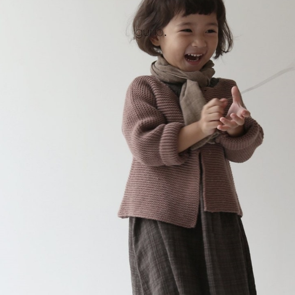 guno french cardigan in pink