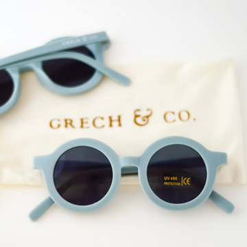 grech and co sustainable sunglasses light blue
