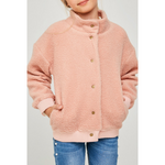 button-down sherpa jacket