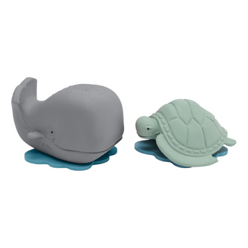 Ingolf the Whale & Dagmar the turtle bath toy gift set