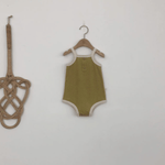 lala retro romper in olive