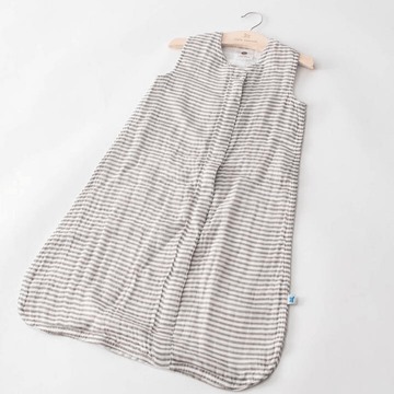 Little Unicorn Cotton Muslin Sleep Bag Grey Stripe