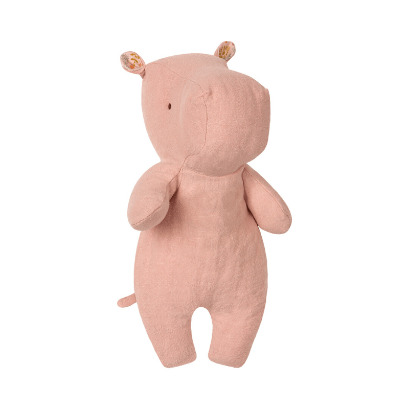 Maileg safari friends little dusty rose hippo soft toy