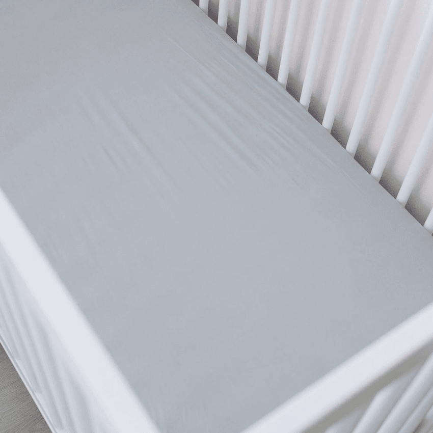 Stretch Crib Sheet, Stone
