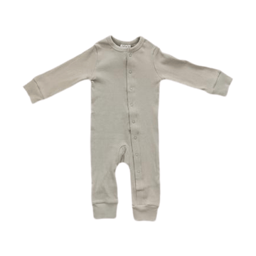 organic ribbed footless one-piece, sage