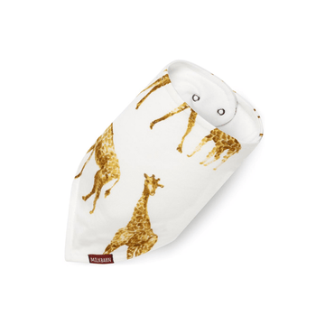 Milkbarn Bamboo Kerchief Bib Orange Giraffe