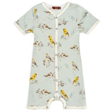 bamboo shortall, blue bird