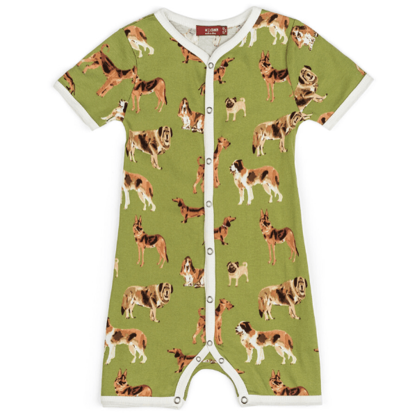 organic shortall, green dog