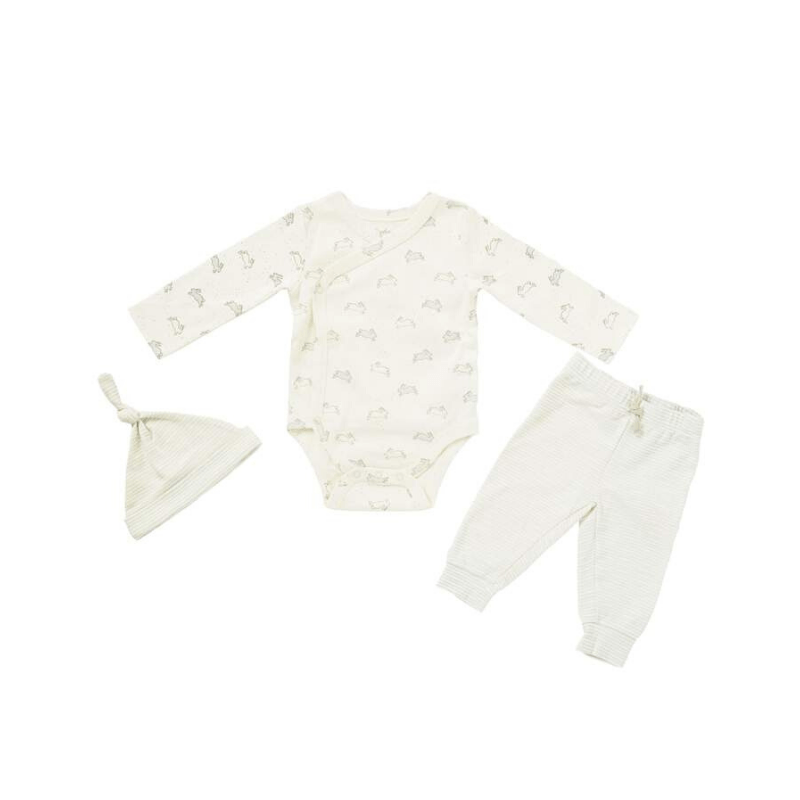 3 piece organic baby set, tiny bunny