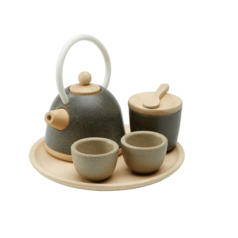 classic wooden tea set