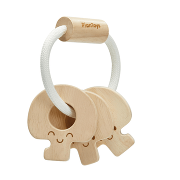 Baby Keys Rattle, Natural