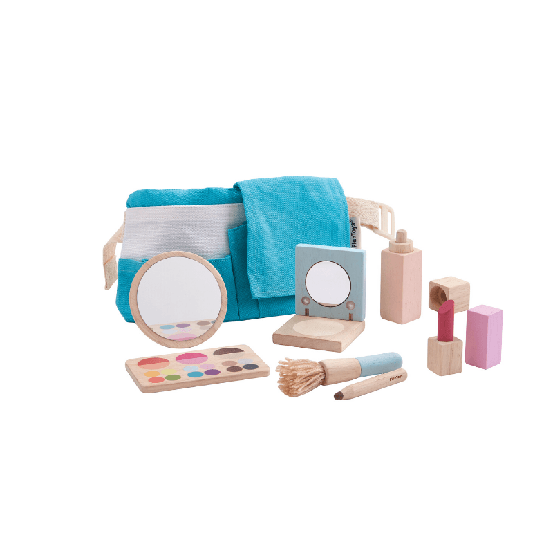 wooden makeup set