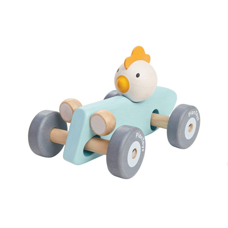 plant toys wooden chicken racing car