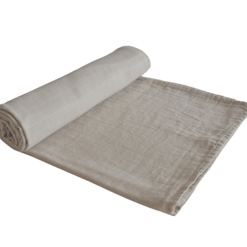 Organic Muslin Swaddle Blanket, Birch