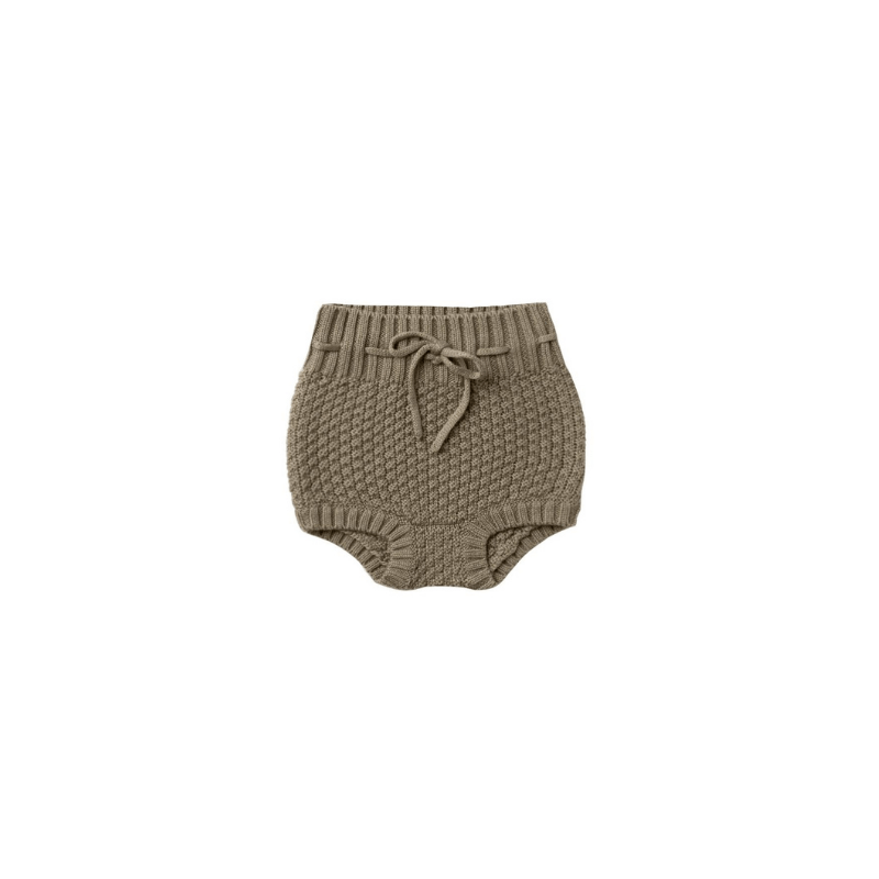 Organic Knit Tie Bloomer, Olive