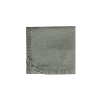 Quincy Mae organic knit baby blanket eucalyptus