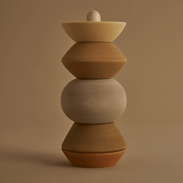 Wooden Stacking Tower, Ball Sculpture