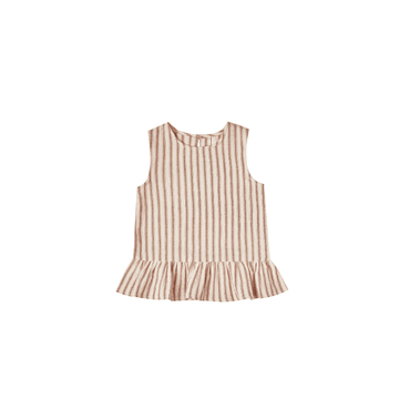 Rylee + Cru Striped Carrie Blouse, Amber