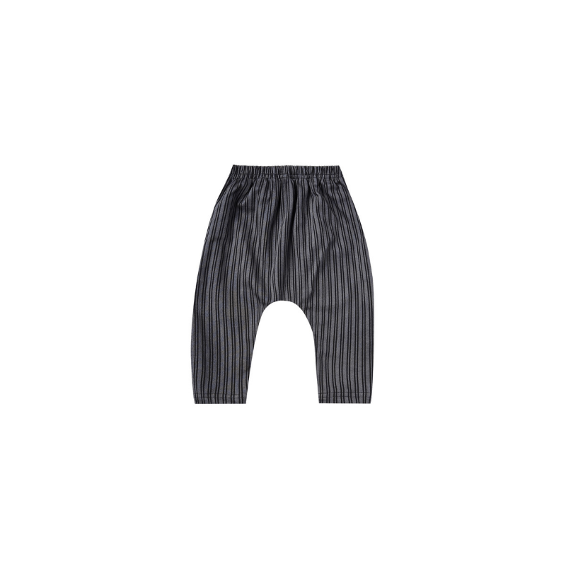 Baggy Harem Pant, Indigo Striped