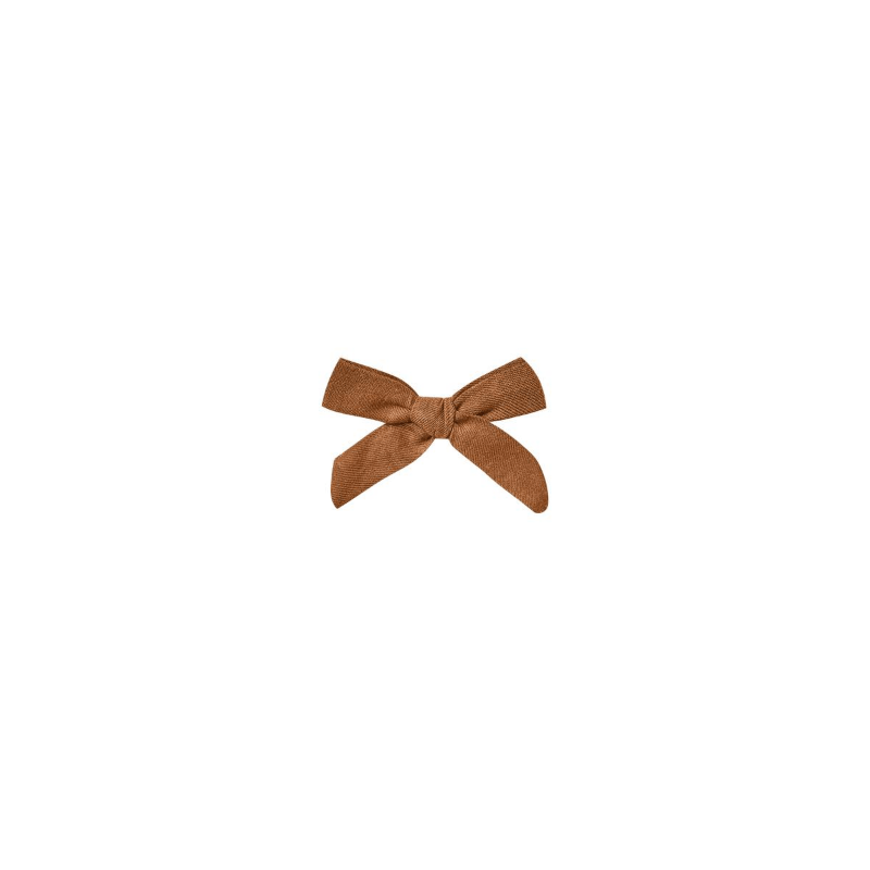 bow with clip, cinnamon