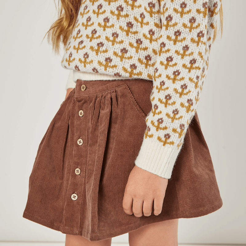 Button Front Mini Skirt, Wine