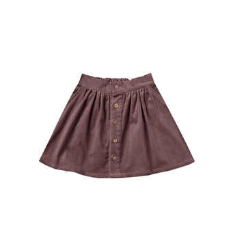 flee and cru button front mini skirt wine