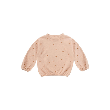 star slouchy pullover, rose