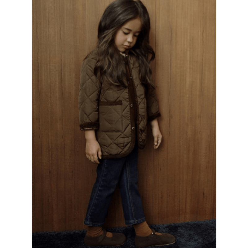 sweven como quilting jacket in brown (4-5y + 8)
