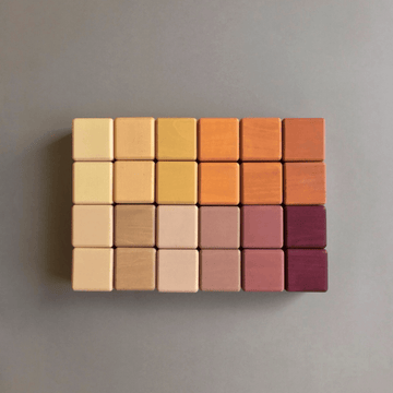 Sabo Cube Blocks Set, Golden Autumn