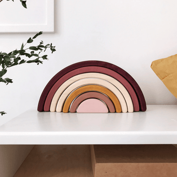 sabo Wooden Rainbow Stacker, Marsala