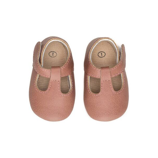 Sweet N Swag Moxy, Rose Baby Shoes with Soft and Rubber Sole Velcro Closure