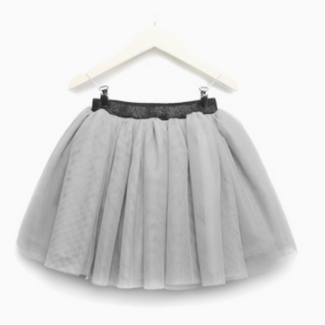 charmant tulle skirt in grey (3-4y)