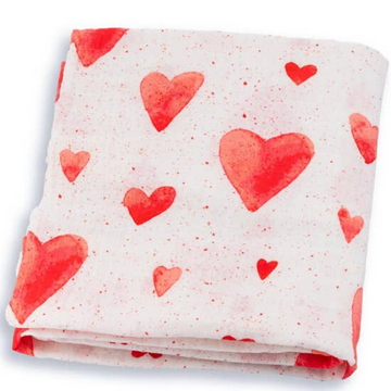 adaline red hearts swaddle blanket