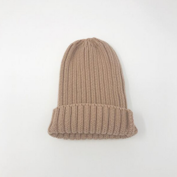 aosta ribbed knit hat, pink