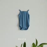 summer baby bodysuit in blue