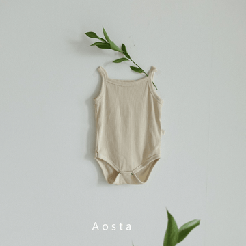 summer baby bodysuit in ivory