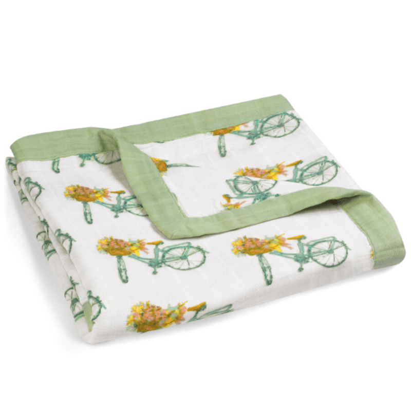 bamboo big lovey, floral bicycle
