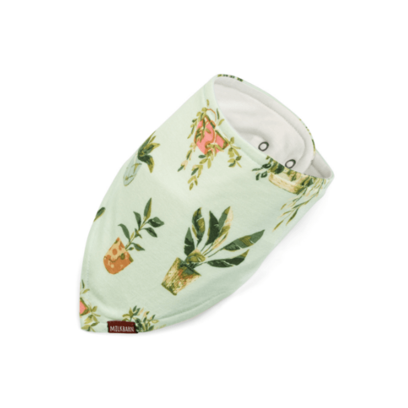 bamboo kerchief bib in potted plants
