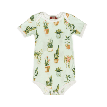 bamboo short sleeve one-piece in potted plants