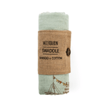 bamboo swaddle in blue ships
